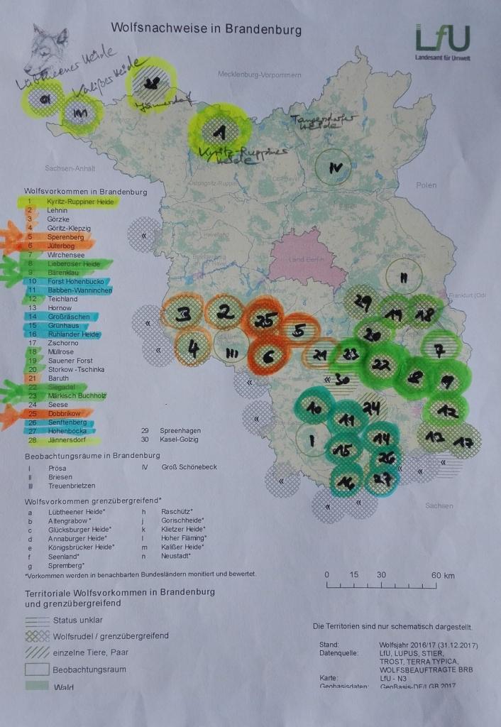 Brandenburg-Wolfskarte