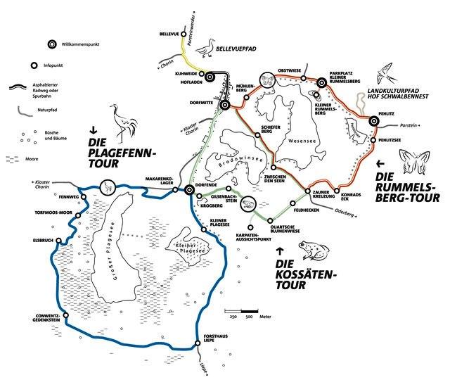 Wandern rund um Brodowin - Karte